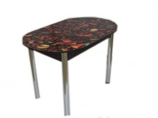 Стол обеденный с фотопечатью Овальный