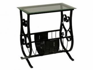 Стол журнальный металлический, с коваными элементами-1682К - Импортёр мебели «МебельТорг»