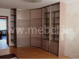 Радиусный шкаф купе с прямым элементом - Мебельная фабрика «ТРИ-е»