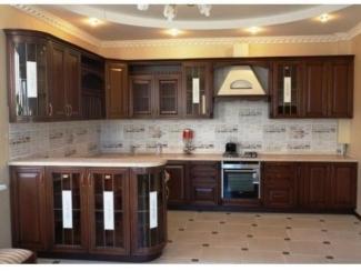 Коричневая П-образная кухня Классика - Мебельная фабрика «Вектра-мебель»