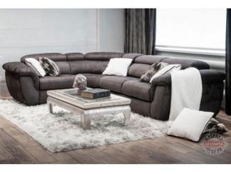 Неаполь угловой диван в сером цвете