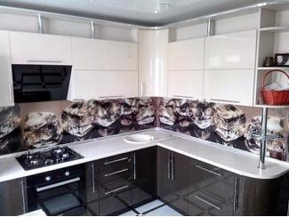 Глянцевая угловая кухня  - Мебельная фабрика «700 Кухонь»