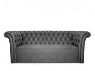 Серый прямой диван