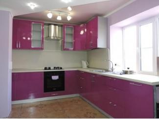 Розовая угловая кухня  - Мебельная фабрика «Вектра-мебель»