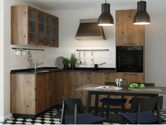Кухня с фасадами из мореной сосны Твиг  - Изготовление мебели на заказ «Кухни ЧУ»