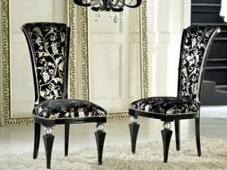 Стул черный с серебром /UPH GENE 3099 - Импортёр мебели «М-Сити (Малайзия)»