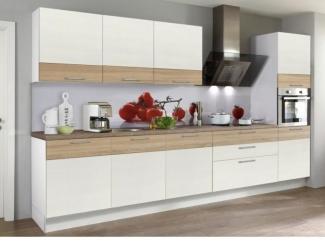 Светлый кухонный гарнитур Лайнвуд  - Мебельная фабрика «SL-Мебель»