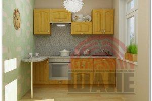 Кухня прямая Ита-Гарвард - Мебельная фабрика «ВМК-Шале»