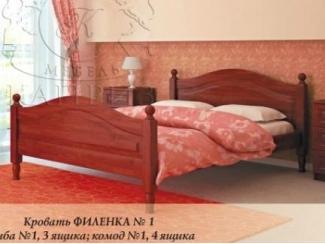 Кровать Филенка №1 - Мебельная фабрика «Каприз»