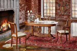 Стол Рондо-Т стулья и кресла Марсель - Мебельная фабрика «Нео Кухни»