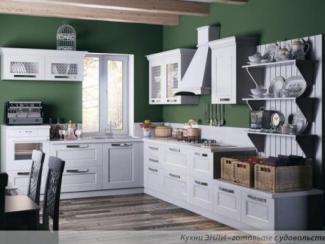 Кухонный гарнитур угловой Скалли Бьянко