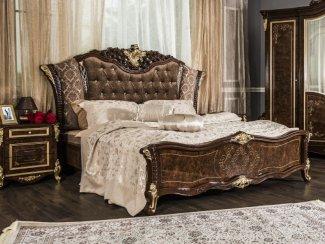 Кровать Оливия корень дуба глянец - Мебельная фабрика «Эра»