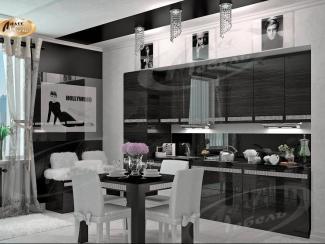 Кухня угловая «Бриллиантовый ворон» - Мебельная фабрика «Ладос-мебель»