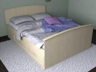 Кровать двуспальная Мдф
