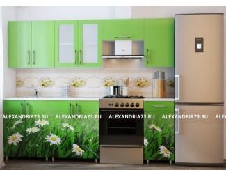 Кухня Александрия фотопечать Ромашки - Мебельная фабрика «Александрия»