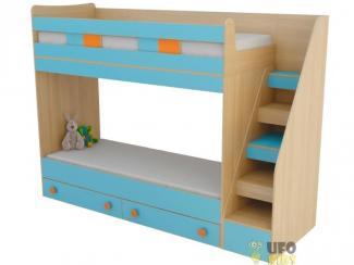 Кровать детская двухъярусная - Мебельная фабрика «UFOkids», г. Санкт-Петербург
