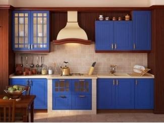 Синий кухонный гарнитур Бремен  - Мебельная фабрика «Массив»