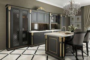 Кухня Аврора черная - Мебельная фабрика «Гретта-кухни», г. Ульяновск