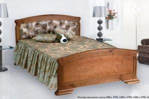кровать Кристина 3 дерево - Мебельная фабрика «Боринское»