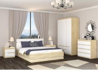 Спальня Люксор МДФ Айс светлый - Мебельная фабрика «Эстель»