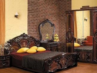 Спальный гарнитур «Роза могано» - Оптовый мебельный склад «Дина мебель»