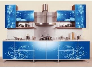 Синяя кухня Райский уголок 2 - Мебельная фабрика «Мебель России»
