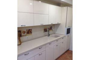 Прямая белая кухня - Мебельная фабрика «МиАн»