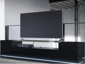 Тумба ТВ черная Амстердам - Мебельная фабрика «Новый стиль»