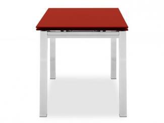 Стол стеклянный Cubo red 90