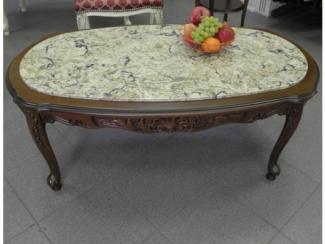 Стол журнальный Тоскано 15 с камнем  - Мебельная фабрика «Вернисаж»
