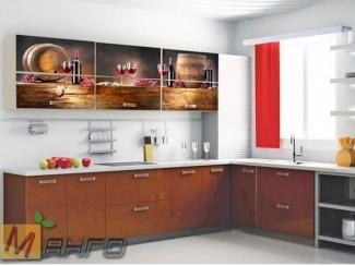 Угловая кухня Изабелла с фотопечатью - Мебельная фабрика «Манго»