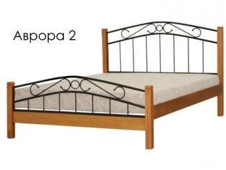 Кровать Аврора 2 с элементами ковки - Мебельная фабрика «Массив»