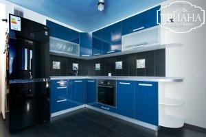 Угловая синяя кухня - Мебельная фабрика «Триана»