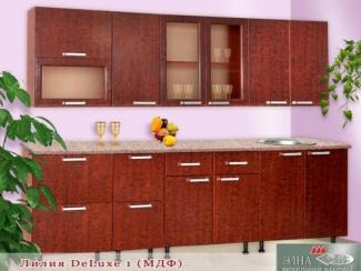 Кухня прямая Лилия DeLuxe 1 (МФД) - Мебельная фабрика «Элна»