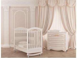Детская кроватка-качалка Гандылян Даниэль Люкс - Мебельная фабрика «Гандылян»
