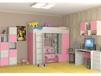 Розовая детская Тетрис 1 - Мебельная фабрика «Ник (Нижегородмебель)»