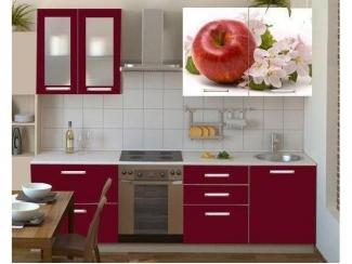 Кухня прямая с фотопечатью Смак 27 - Мебельная фабрика «Лига Плюс»