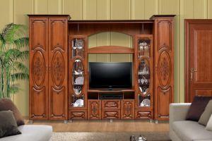 Гостиная Глория 10 с патиной - Мебельная фабрика «Аристократ»