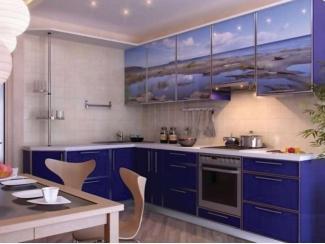Кухня с фотопечатью KF 7 - Мебельная фабрика «FSM (Фабрика Стильной Мебели)»