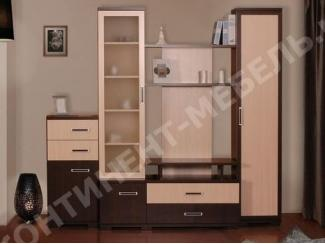 Стенка Омега 5 с тумбой - Мебельная фабрика «Континент-мебель»