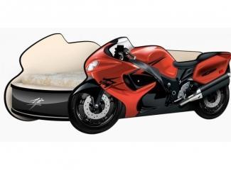 Кровать - Мотоцикл  Сузуки красный - Мебельная фабрика «КАРоБАС»