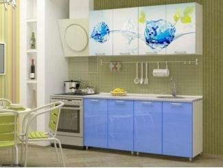 Прямая кухня Айс-2 с фотопечатью - Мебельная фабрика «Манго»