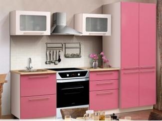 Двухметровая кухня Олимпия с фасадом Фламинго - Мебельная фабрика «РиАл», г. Волжск