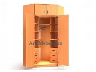 Шкаф угловой двустворчатый У-13Л - Мебельная фабрика «Артемебель», г. Владимир