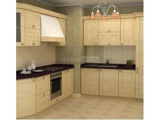 Кухонный гарнитур из массива ясеня Элегия 2 - Мебельная фабрика «Аркадия-Мебель»