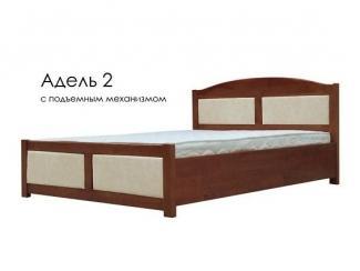 Кровать Адель 2 СПМ ЭкоКожа  - Мебельная фабрика «Фактура-Мебель»