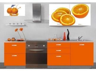 Кухня Смак 24 с фотопечатью апельсин - Мебельная фабрика «Лига Плюс»