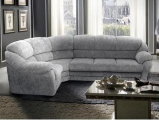 Тканевый угловой диван в сером цвете  - Мебельная фабрика «Глория»