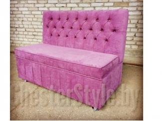Розовый кухонный диван - Мебельная фабрика «ChesterStyle», г. Гродно