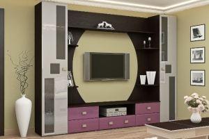 Гостиная 7 МДФ/стекло - Мебельная фабрика «МЭК»